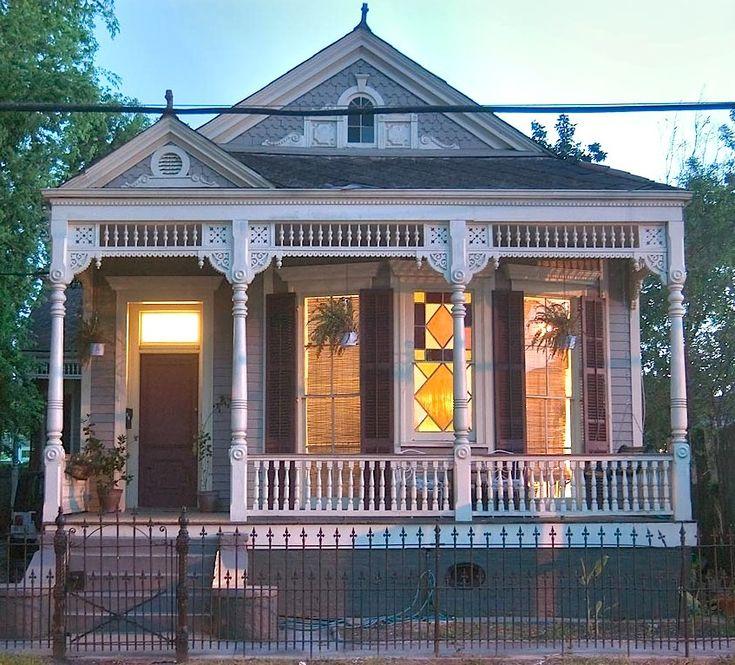 Typical Victorian Shotgun House in New Orleans