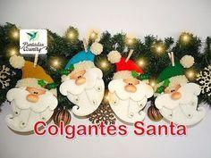 Muñecos Navideños en Fieltro Paso a Paso -Caritas de Nieve- - YouTube