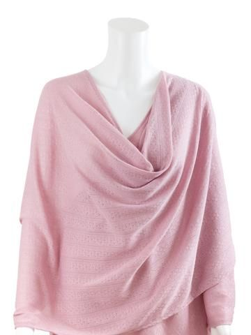 Pink Textured Knit Nursing Cover