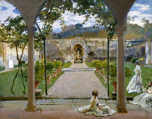 John Singer Sargent - At Torre Galli: Ladies in a Garden