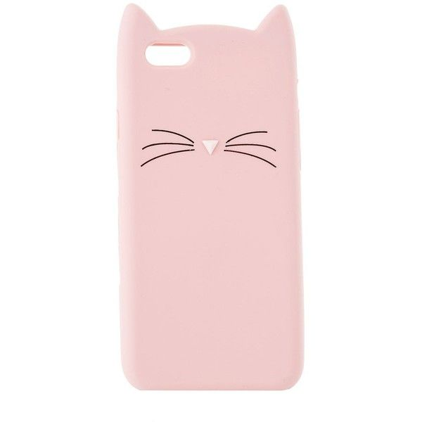 Charlotte Russe Kitty iPhone 6 Phone Case ($7.99) ❤ liked on Polyvore featuring accessories, tech accessories, light pink and charlotte russe