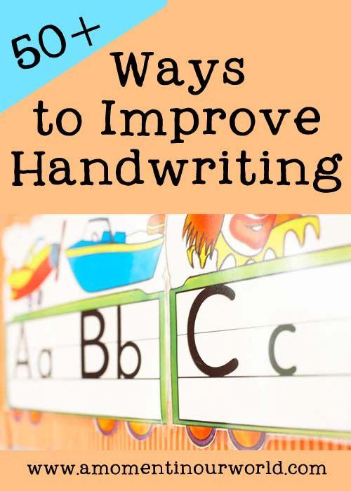50 Ways to Improve Handwriting