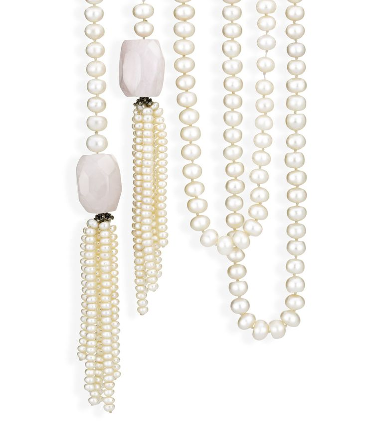 A modern twist to the classic pearl necklace. Jenna Clifford Designs | Renaissance � Necklaces