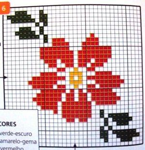 ponto cruz flor de natal - Pesquisa Google