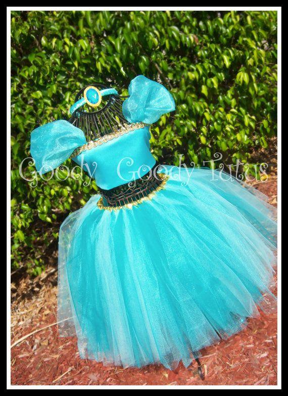 ALADDIN'S SWEETHEART Princess Jasmine Inspired Tutu & Corset Top Set with Headband by goodygoddytutus