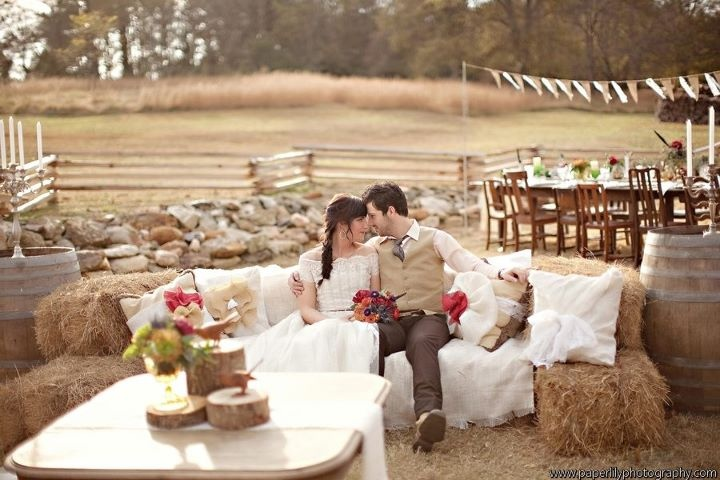 to do after hay bale seating a la ceremony!?