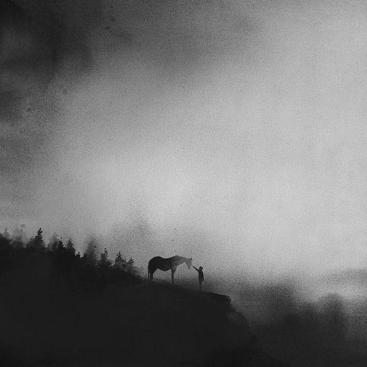 Kids and Animals – Les nouvelles aquarelles minimalistes d'Elicia Edijanto (image)