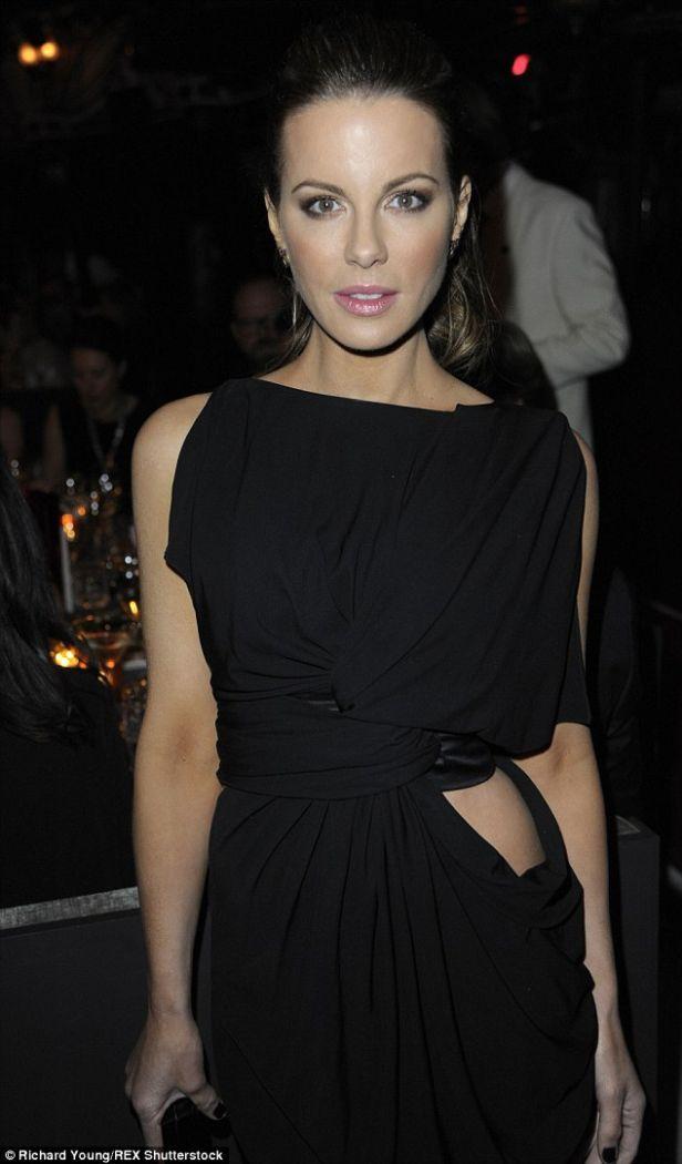 Newly Single Kate Beckinsale Brings the Sexy Back at the British Fashion Awards | Buy ➜ http://shoespost.com/kate-beckinsale-black-dress-vionnet-casadei-mesh-sheer-sandals-len-wiseman-breakup-divorce/