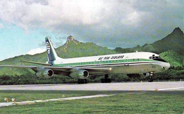 Air New Zealand DC-8 Cook Islands 1970s