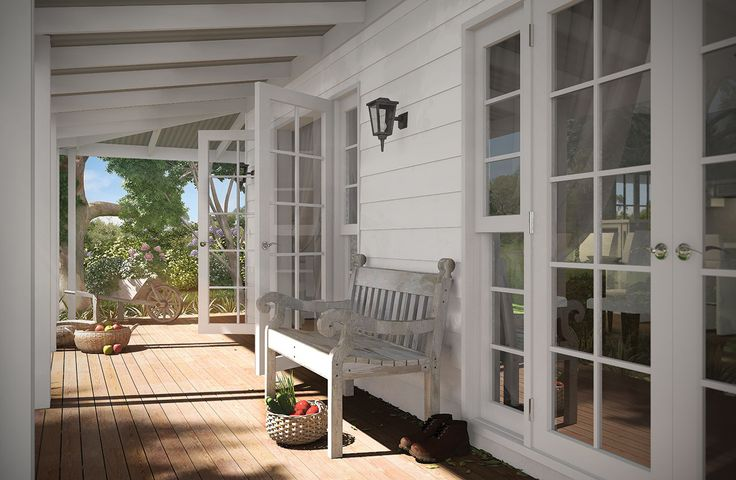 The Mitchell Verandah - let the outdoors in on this country home!