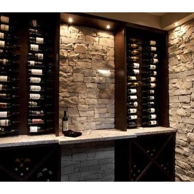 Wine Cellar Stone Clad Design, Pictures, Remodel, Decor and Ideas #cladding