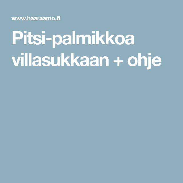 Pitsi-palmikkoa villasukkaan + ohje