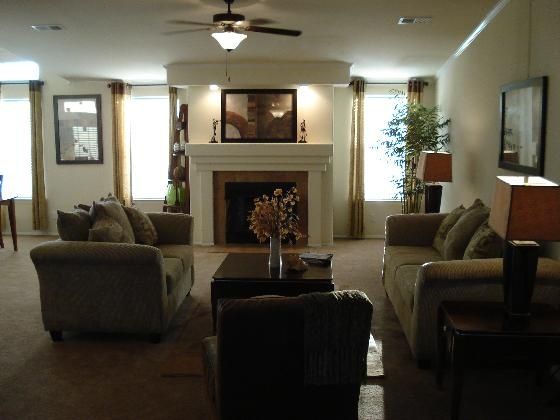The great room with optional fireplace   Modular homes ...