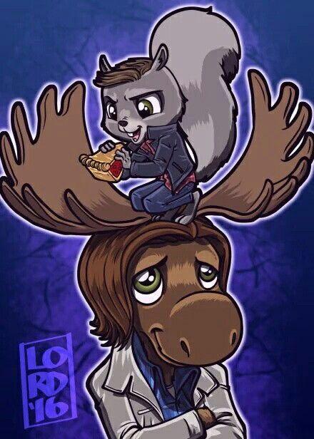 Lord Mesa  supernatural moose & squirrel