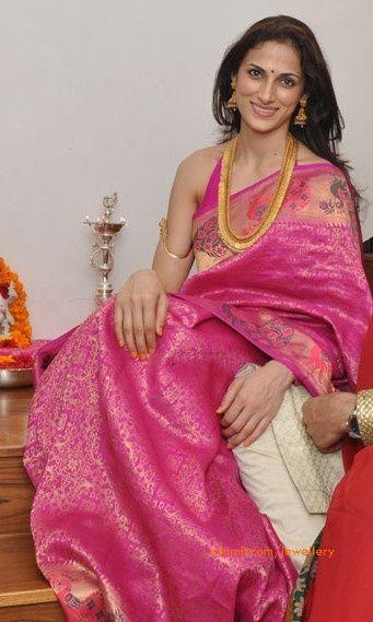 Pink kanjeevaram