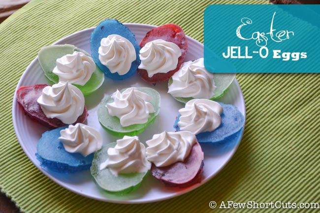 How adorable are these Easter Jello Eggs!
