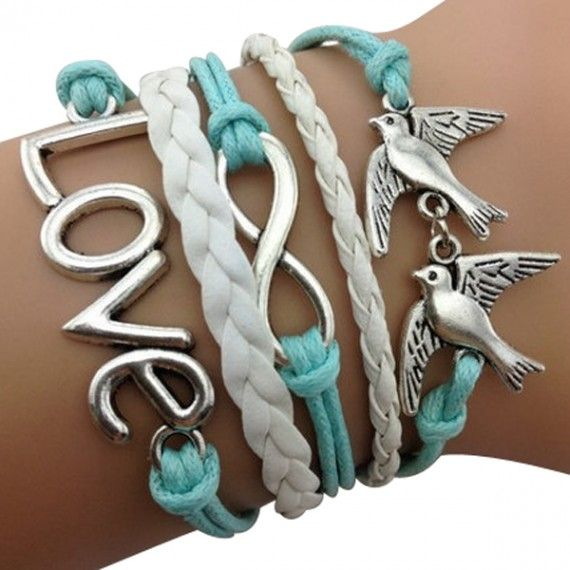 Love Birds Arm Party Bracelet