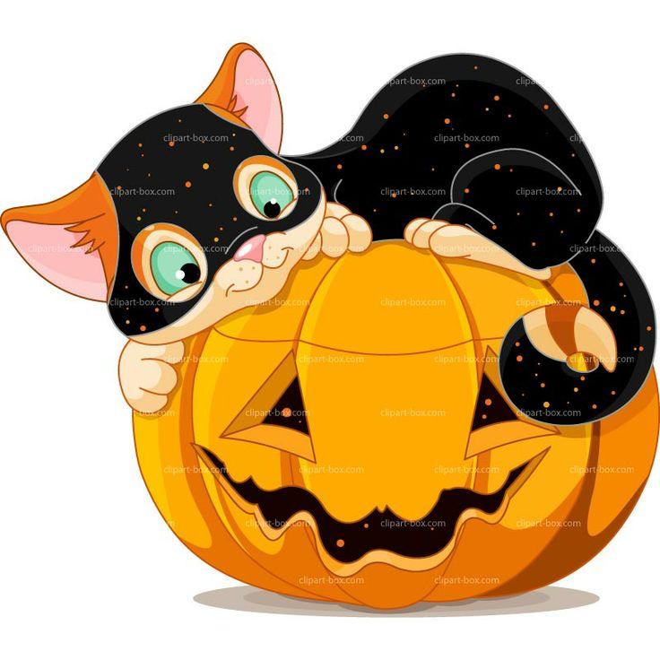 CLIPART HALLOWEEN CAT | Royalty free vector design ...