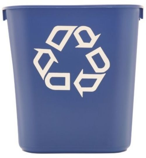 Recycle Bins For Office Paper Recycling Containers Waste Baskets Bin 13 5/8 Qt #Rubbermaid