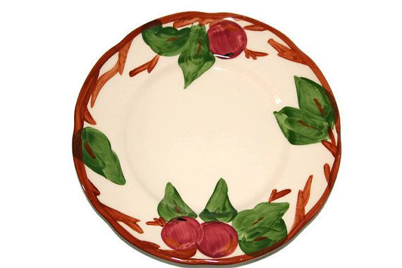 Salad Plate-Franciscan Ware-Replacement-Fransciscan Replacement Salad Plate-Franciscan Apple Salad Plate-Apple Pattern-Made in England