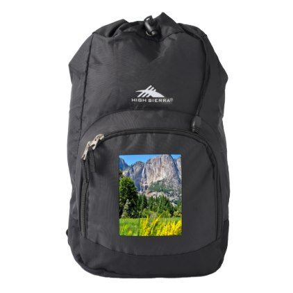 High Sierra Backpack w/ pic of Yosemite - cyo customize gift idea