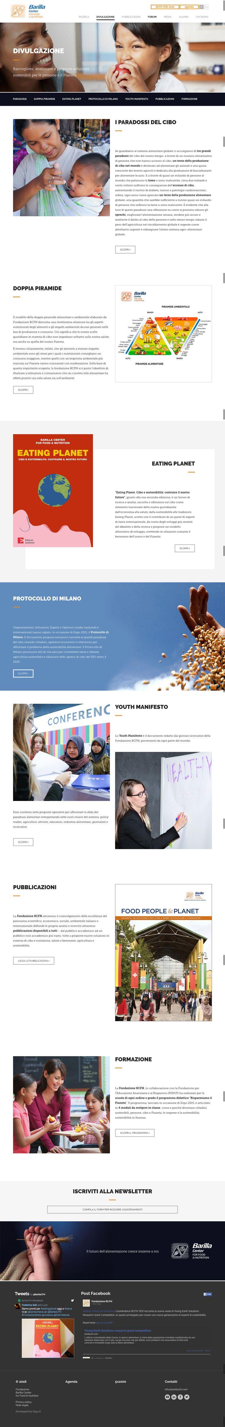 Fondazione BCFN Sito web, magazine e piano social per una strategia di divulgazione e coinvolgimento, sui temi dell'alimentazione sostenibile.
