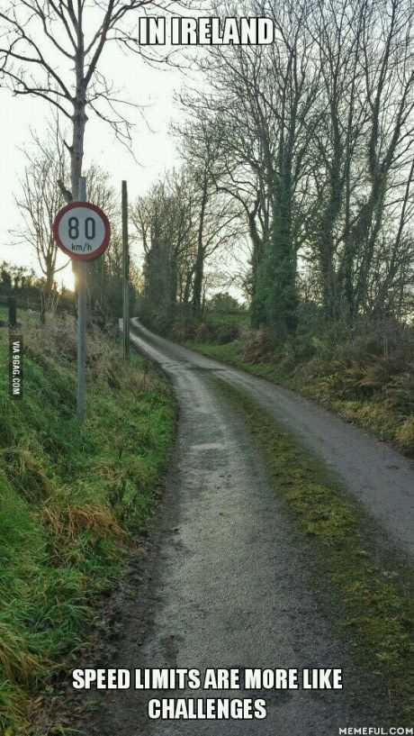 Irish roads try this one at 80 klicks.