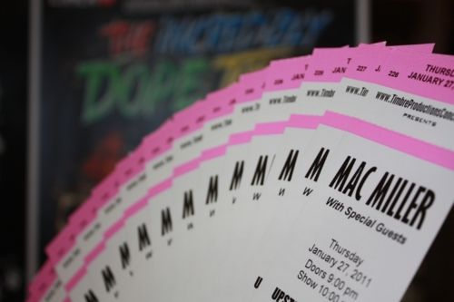 Mac Miller concert tickets.