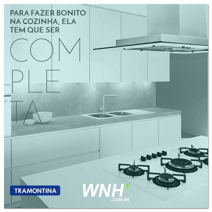 Inove sua cozinha já! Coifas e cooktops #Tramontina  Aqui >> www.WNH.com.br/?utm_content=buffer6ed06&utm_medium=social&utm_source=pinterest.com&utm_campaign=buffer  #dica #donadecasa #meuape #enxoval #meuapedecor #cozinhamoderna #culinária #culinaria #gastronomia #cozinha #kitchen #minhacasa #casasimples #donadecasafeliz #love #cooktop #cozinhar #casabonita #chef #homedecor #lar #lardocelar #minhacozinha #amor #meular