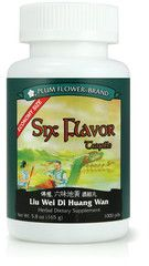 Plum Flower - Six Flavor Teapills - Liu Wei Di Huang Wan | Best Chinese Medicines. This isone of the most important formulas in Chinese Medicine. It is often used in menopause, fatigue, menstrual irregularities, and insomnia. People who have Kidney and Liver Yin deficiency may have the following symptoms:  Fatigue/tiredness Weak or sore knees Lower back pain or weakness Tinnitus   Dizziness   Nocturnal emission Frequent urination Flushed face/cheeks Insomnia   Night sweats  Blurry vision