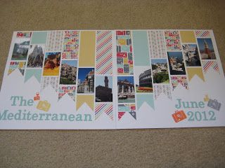 I was inspired to design these scrapbook pages after seeing this layout . I loved the rainbow Angela created with her page, but I di...