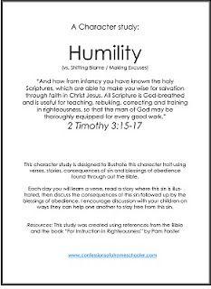 Bible Character Study: Humility