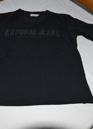 À vendre sur #vintedfrance ! http://www.vinted.fr/mode-hommes/t-shirts/30268341-tee-shirt-manches-longues-kaporal-noir-xl