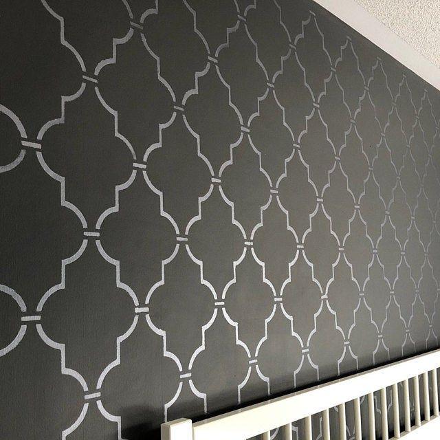 Reusable Stencil Curvy Lattice Allover Pattern Etsy Wall Stencil Patterns Stencils Stencils Wall