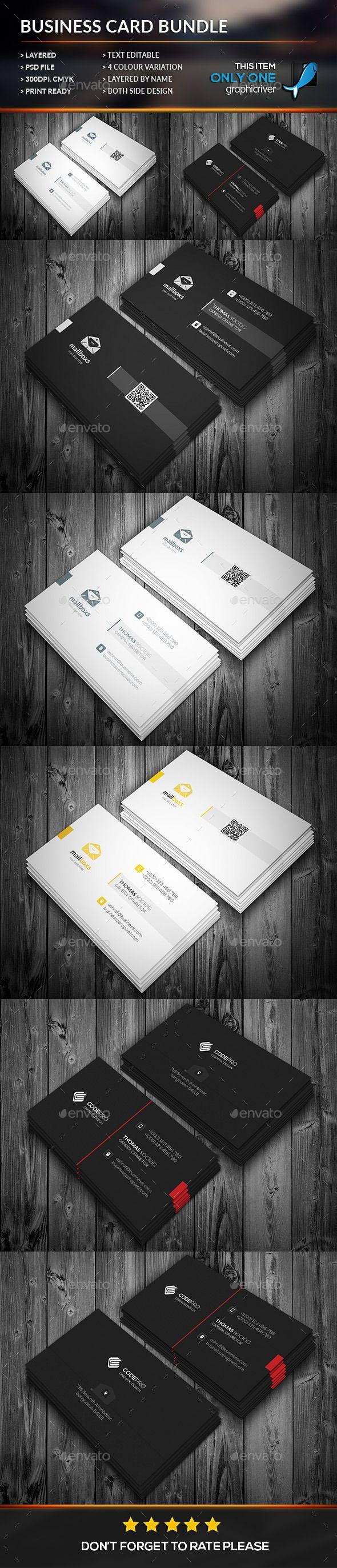 Simply Business Card Bundle Template #design Download: http://graphicriver.net/item/simply-business-card-bundle/12129885?ref=ksioks