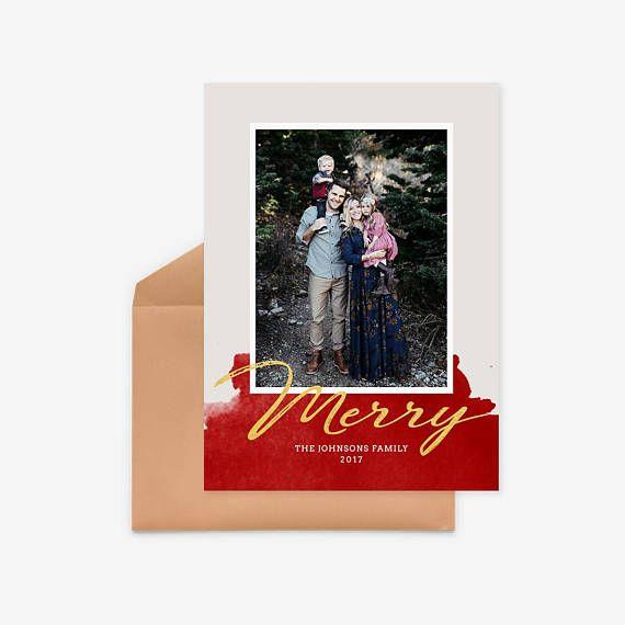 Mejores 16 imágenes de Christmas Card Template en Pinterest ...
