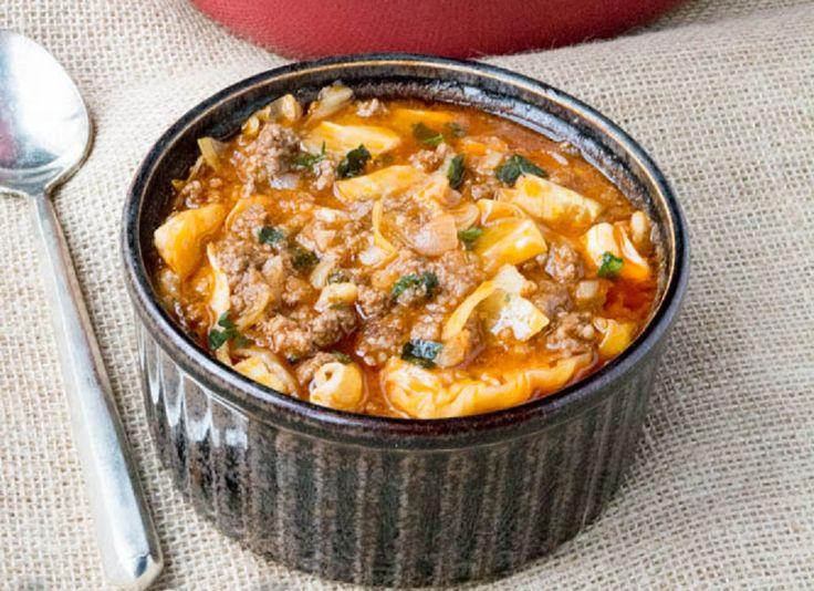 Low Carb Rezepte: Schmortopf Low Carb Kohl Suppe