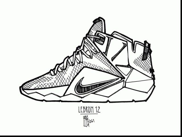 27+ Pretty Image of Lebron James Coloring Pages | Nike ...