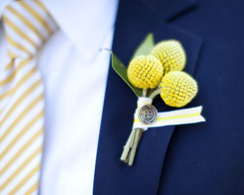 Real Wedding Inspiration: A Yellow & Navy Wedding - Wedding Obsessions | The Knot
