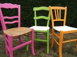 R sultat de recherche d 39 images pour peindre chaises bois paille quo - Relooker chaise en paille ...