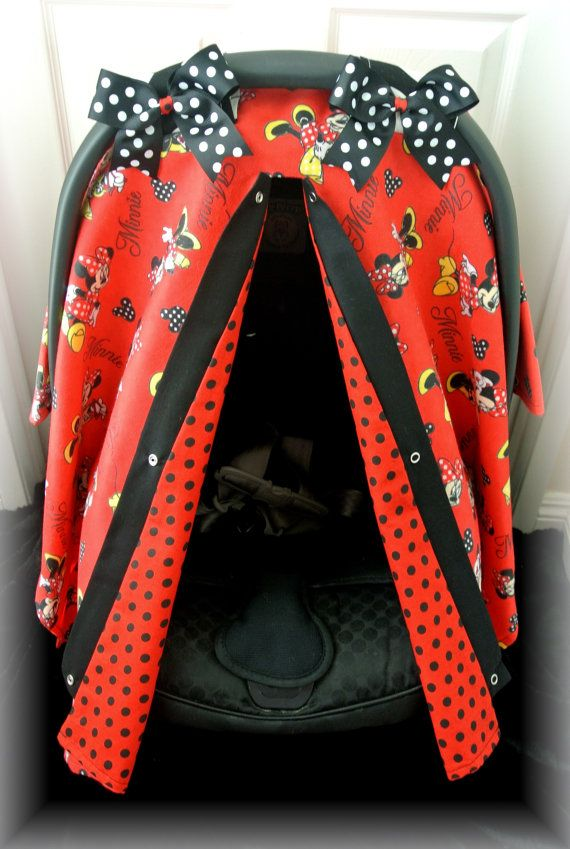 FLANNEL DISNEY Carseat Canopy Car Seat Cover By JaydenandOlivia 4299