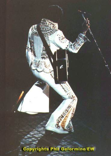 """Uniondale, NY. June 22, 1973. performed sold out concerts at the Nassau Coliseum during this tour that started in Mobile on June 20th. Elvis wore the """"Today jumpsuit"""" for the opening concert in New-York, this stage attire was after  the front cover of the 1975 LP """" Elvis Today """"."""