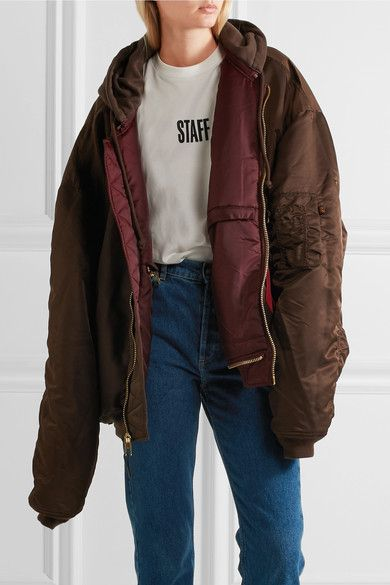 Vetements - Alpha Industries Oversized Reversible Shell Bomber Jacket - Burgundy - x small