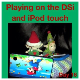 Elf on the shelf ideas Playing on the Nintendo DS
