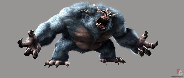character big foot monster from tmnt the movie