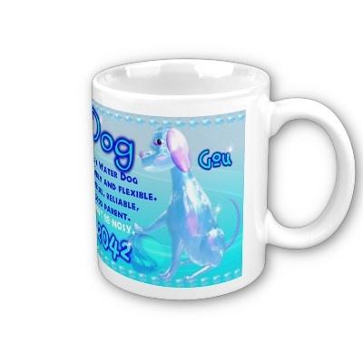 Water Dog 1982, 2042 Chinese zodiac Mugs at $14.60