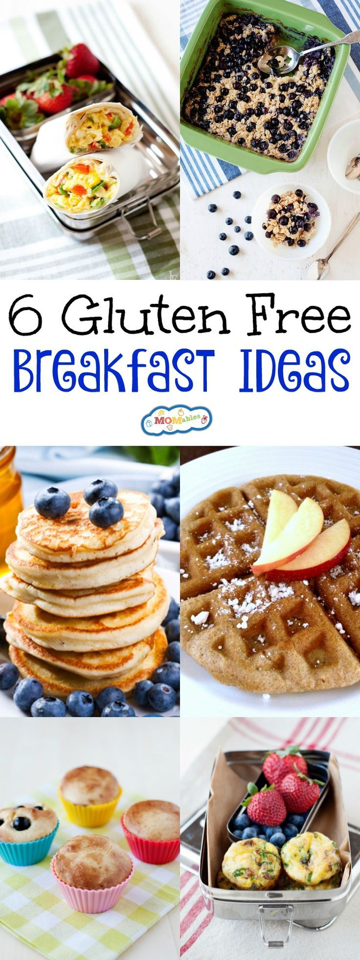 These 6 gluten free breakfast recipes will please the whole family! Move over, cardboard bread. Make these breakfasts to kickstart your day!