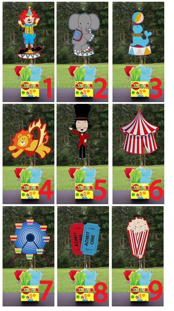 Centros de mesa circo