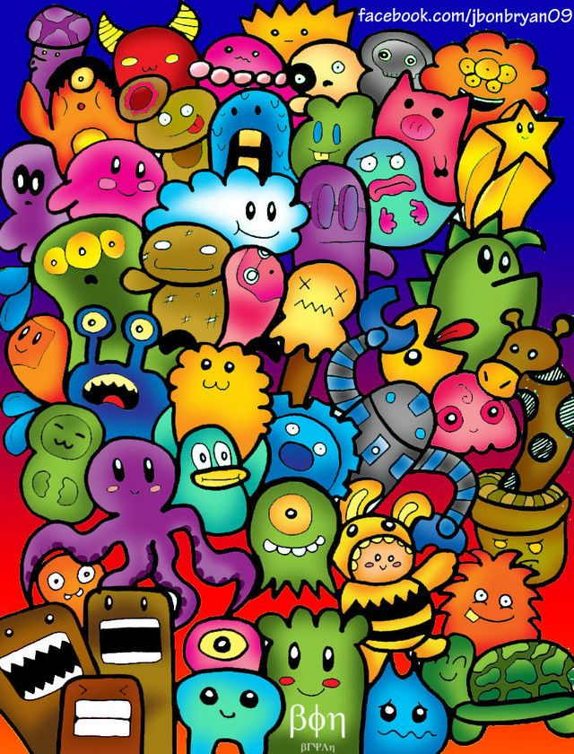 1000 images about cute monster on pinterest flies away for Doodle art monster