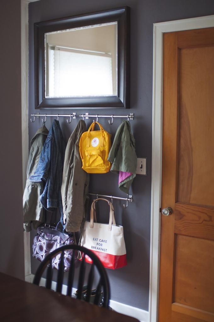 DIY Under $100: Coat Storage // writing chapter three
